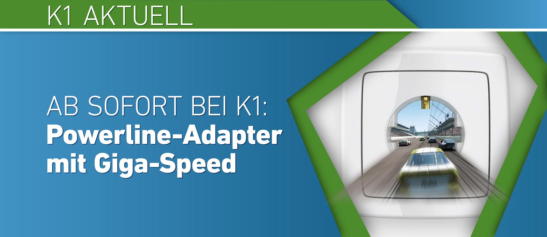 Powerline-Adapter mit Giga-Speed